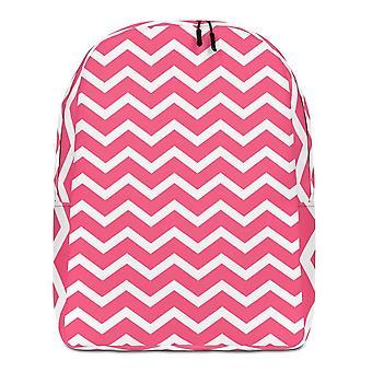 Batoh minimalistický | růžový cik cak
