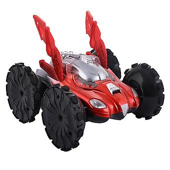 Electric Amphibious Stunt Attack RC Car Remote Control Car Toy Toyrific 360° Red