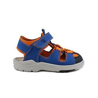 Ricosta Gery 3320100-161 Azur Blue/Orange Boys Sandalias de Dedo Cerrado