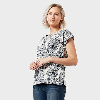 Nieuwe Weird Fish Women's Thandi Patterned T-Shirt Brown