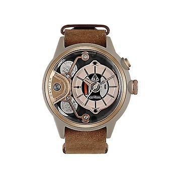 The Electricianz ZZ-A2C-01 The DeZert Brown Strap Wristwatch