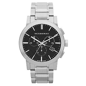 Burberry BU9351 Chronograph Black Dial Stainless Steel Men's Watch