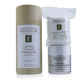 Eminenz ruhig Haut Kamille Peeling Peeling (mit 35 Dual strukturierten Baumwolle Runden) 50ml/1,7 oz