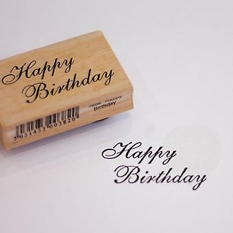 Happy Birthday Rubber Ink Stamp | Greetings Ink Gift Tags Scrapbooking Craft