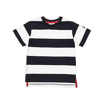 Alouette Boys' Striped T-Shirt With Opens And Embroidery