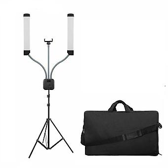 Double-Armed Selfie Lamp with Mobile Charger and Tripod