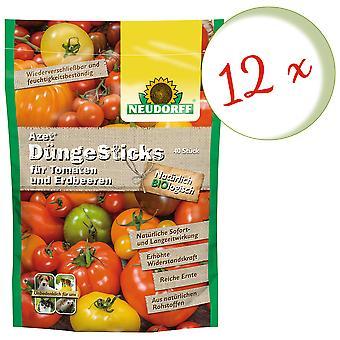 Sparset: 12 x NEWDORFF Azet® Fertilizantes Para tomates e morangos, 40 varas
