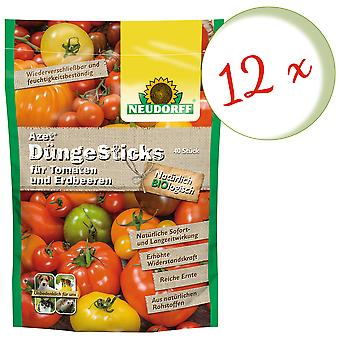 Sparset: 12 x NEWDORFF Azet® FertilizerSticks for tomatoes and strawberries, 40 sticks