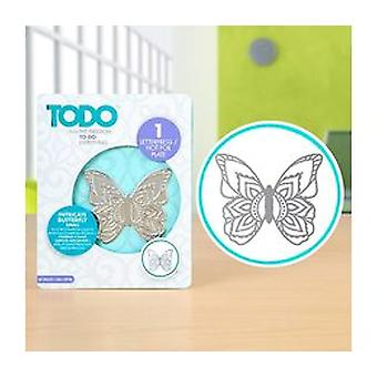 TODO Letterpress and Hot Foil Plate Intricate Butterfly Small