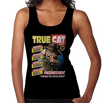 Garfield True Cat Detective Comic Book Paródia Women 's Vest