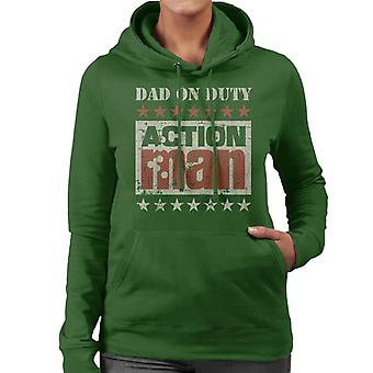 Action Man Dad On Duty Women's Hooded Sweatshirt