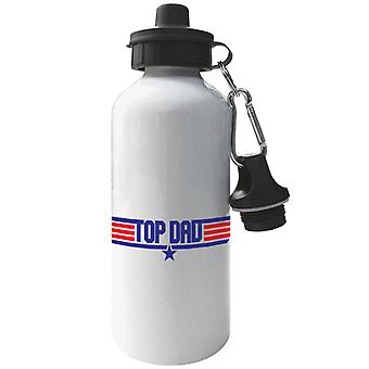 Top Dad Top Gun Logo Aluminium Sports Water Bottle