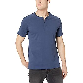 Goodthreads Men's Short-Sleeve Sueded Jersey Henley, Navy, groß