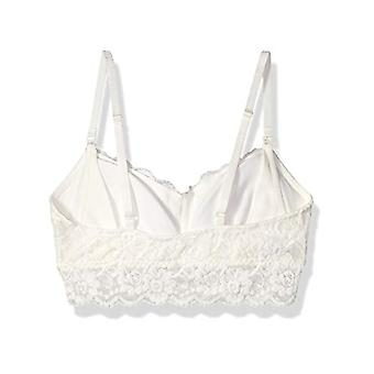 Brand - Arabella Women's Classic Lace Nursing Bralette, Ivory, X-Small