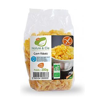 Gluten Free and Sugar Free Toasted Corn Flakes Bio 200 g