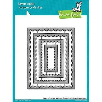 Lawn Fawn Reverse Stitched Scalloped Rectangle Windows Dies