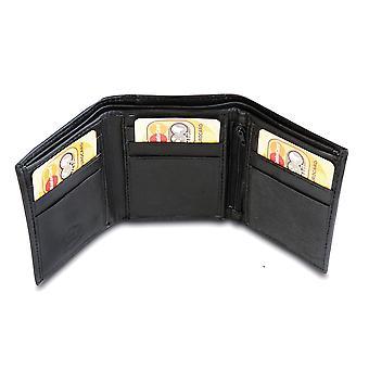 Primehide BASIC - Mens Leather Wallet - RFID Blocking - Preto / Marrom - 86