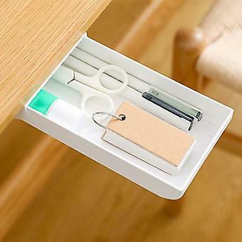 Samolepicí pod stolem zásuvka úložný box - tužka zásobník skrytý stůl organizér