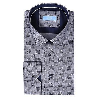 قميص طويل الأكمام منقوشة | wessi