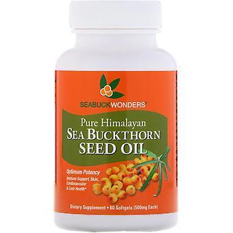 SeaBuckWonders, Sea Buckthorn Seed Oil, 500 mg, 60 Softgels