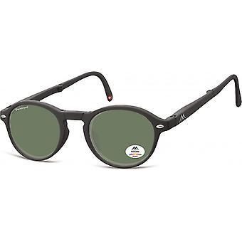 النظارات الشمسية Unisex قابلة للطي بانتو مات الأسود / الأخضر (MP66)