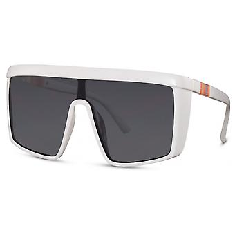 Sunglasses Unisex Rectangular Cat. 3 white/black