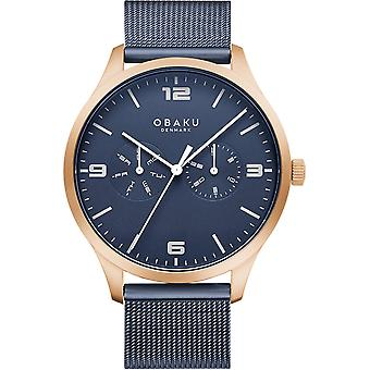 Obaku Ask Ocean Men's Day Date Wristwatch V249GMVLML