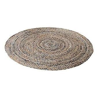 Spura Home Handmade Novelty Brown Round Gradient Braided Denim Area Rug