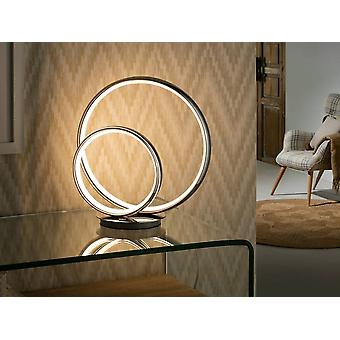 Chrome intégré de lampe de table LED