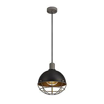 Luminosa Beleuchtung - Deckenanhänger, 1 Licht E27, IP65, Matt schwarz, grau