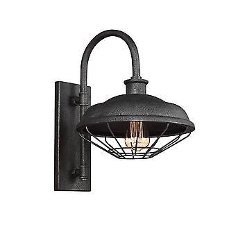 1 licht binnen koepel muur lichtgrijs metaal, E27