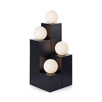 4 Light Indoor Table Lamp Black, G9