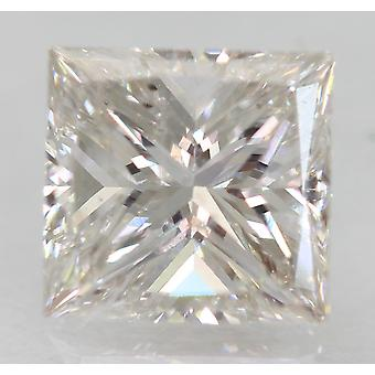 Certificado 1.01 Carat F VS1 Princesa Mejorada Natural Diamante Suelto 5.88x5.61mm