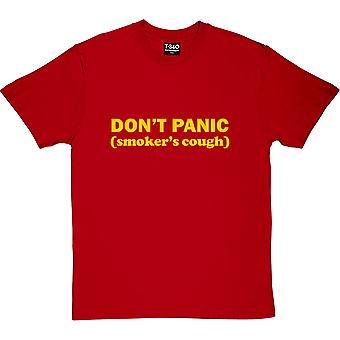 Don't Panic: Smoker's Cough Red Men's T-Shirt