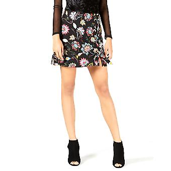 Project 28 NYC | Printed Lace-up Mini Skirt