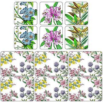 Pimpernel Stafford bloeit Placemats en Coasters