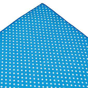 Kravaty Planet Tresanti Modrá a biela Polka Dot bavlnené vrecko štvorcové vreckovku