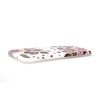 iPhone 7/8 Plus Schale mit Halter Weiß/Pink