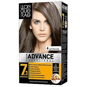Llongueras Advance Hair Color # 4-Colour Medium Brown