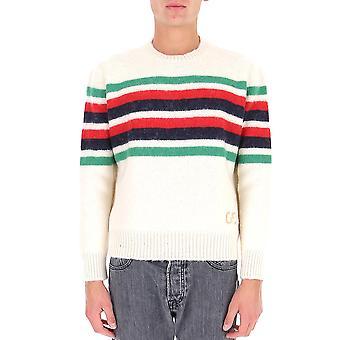 Gucci 633614xkbip9275 Men's White Wool Sweater