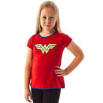 DC Comics Wonder Woman Metallic Logo Official Girl's Character T-Shirt