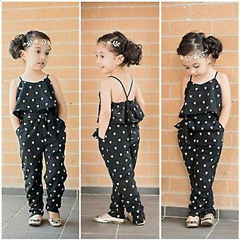 Cute Strap Heart Overtles Kids Romper Jumpsuits Bib Pants Suspension Pantalon