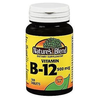 Nature's Blend Vitamin B12 Tablets, 500 mg, 100 Tabs