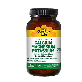 Country Life Cal-Mag-Potassium Target-Mins, 90 Tabs