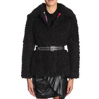 Ainea F8f280c1 Women's Black Acrylic Outerwear Jacket