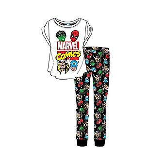 Women's Marvel Avengers Superhero Icons Pyjama Set