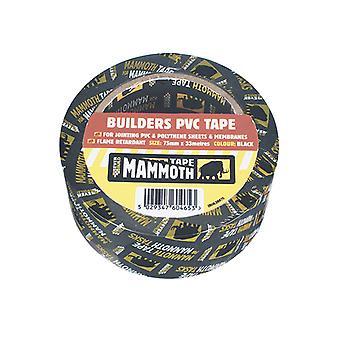 Everbuild Builder's PVC Tape Black 75mm x 33m EVB2BTBK75