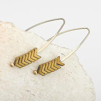 Natural Stone Gold Pull Through Earrings