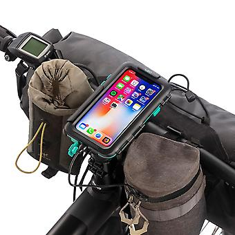 Bike handlebar mounting kit tough waterproof case for apple iphone x / xs