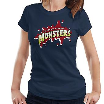 Universal Studios Monsters Blood Logo Women's T-Shirt